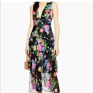 Freida Tiered Floral-print Crepe Midi Dress